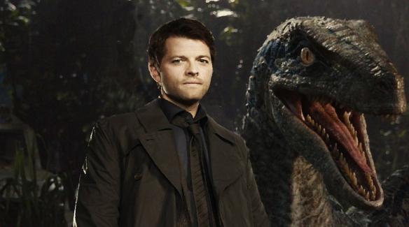 162 Castiel with dinosaur