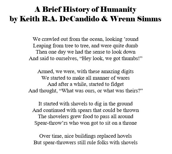 69 -- history of humanity poem