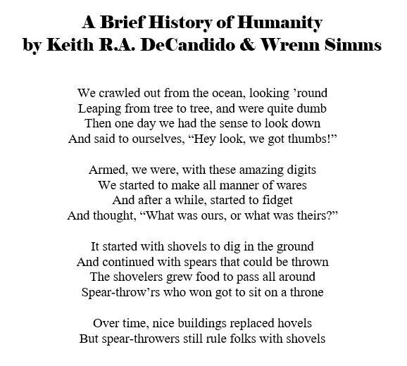 69 -- history of humanity poem